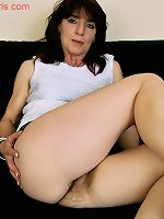 Meet mature Angie and her hairy taco and ass