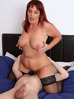 Naughty British mature lady doing her toy boy in bed